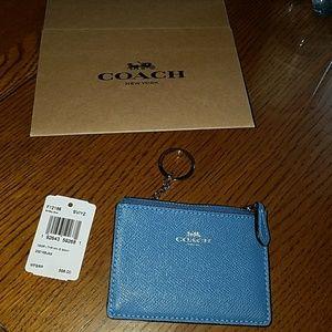 New Coach cross-grain leather mini ID skinny case